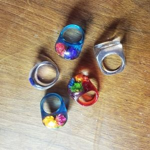 vintage Jewelry - Lot of Five Vintage Lucite Rings